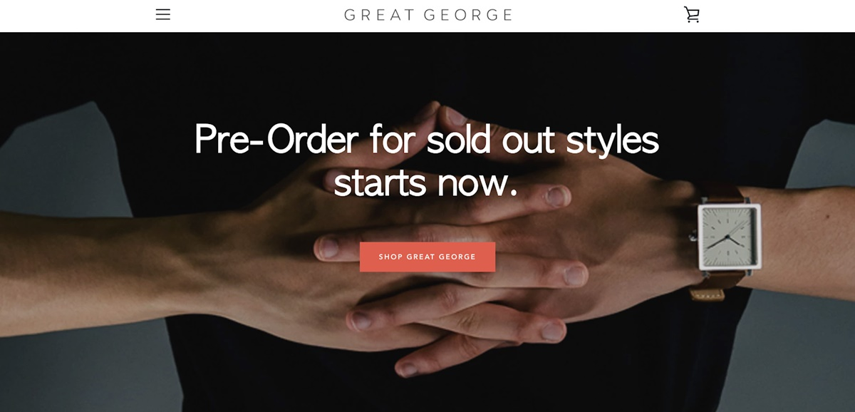 Shopify Store Examples: Great George Watches - Square watches store