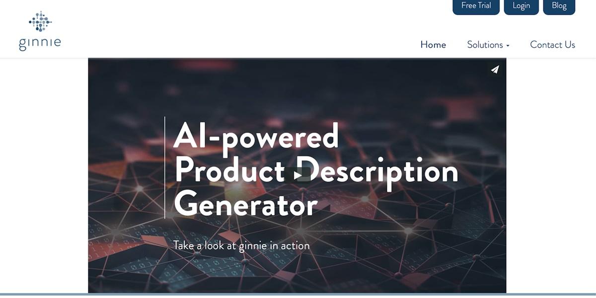 Ginnie - Product description generation tool