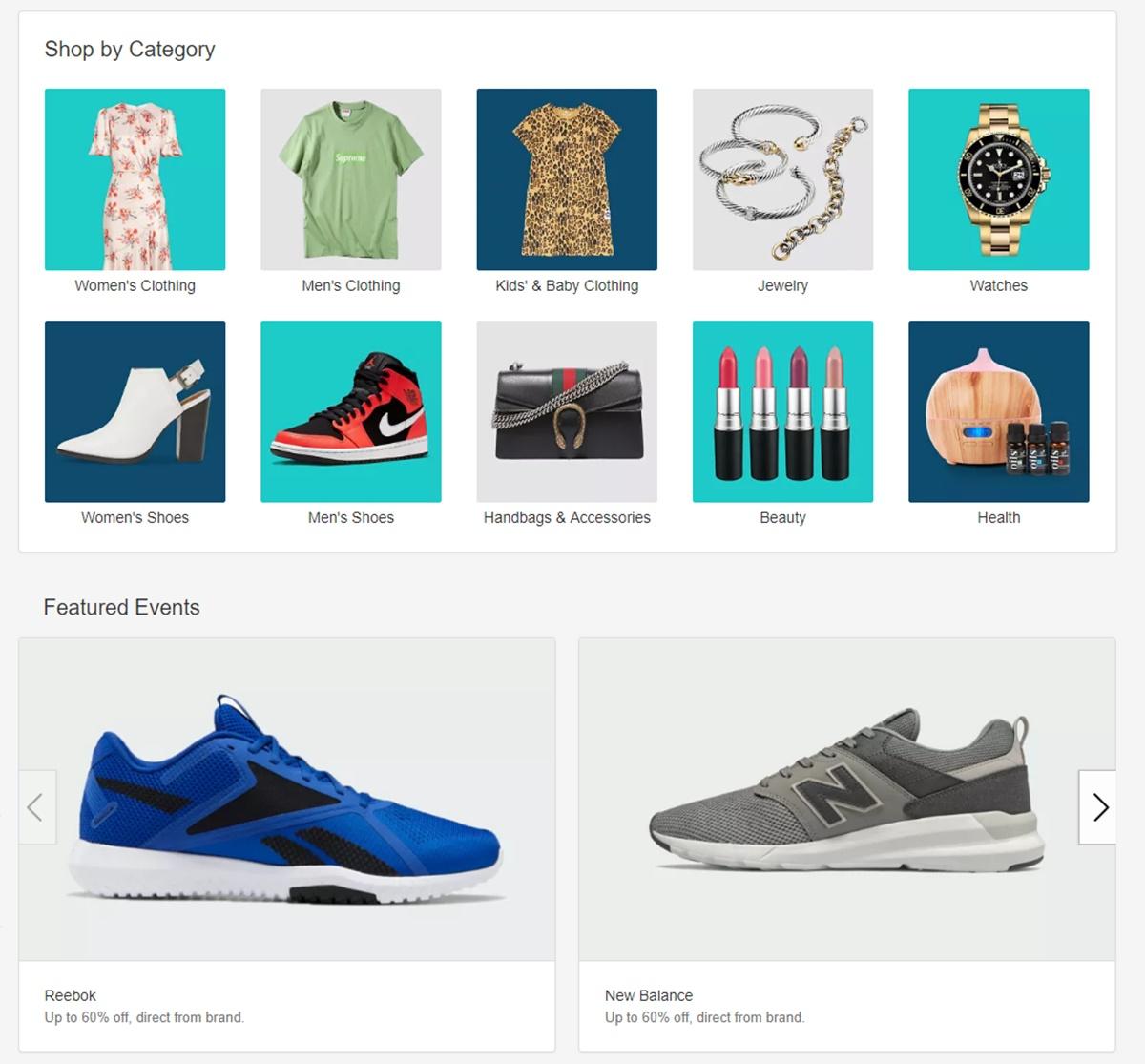 Fashion items on eBay