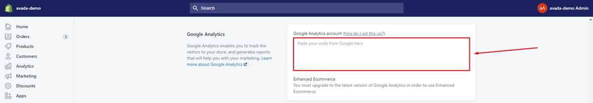 Ensure you haven't already activated Google Analytics