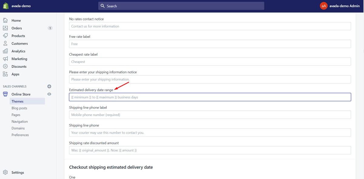 """Step 3: Find """"Estimated delivery date range"""""""