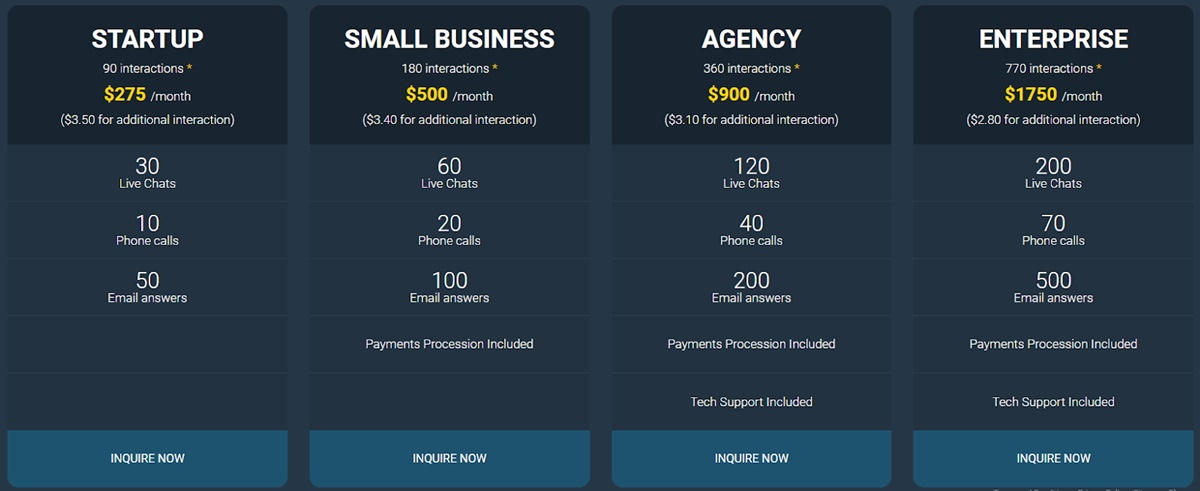 Mobilunity Customer Service Pricing plan