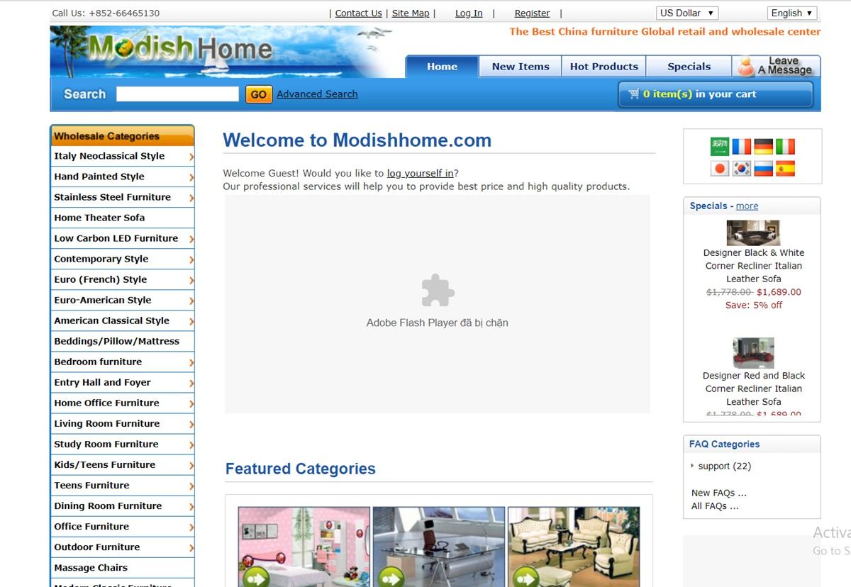Modishhome.com China Wholesale Websites