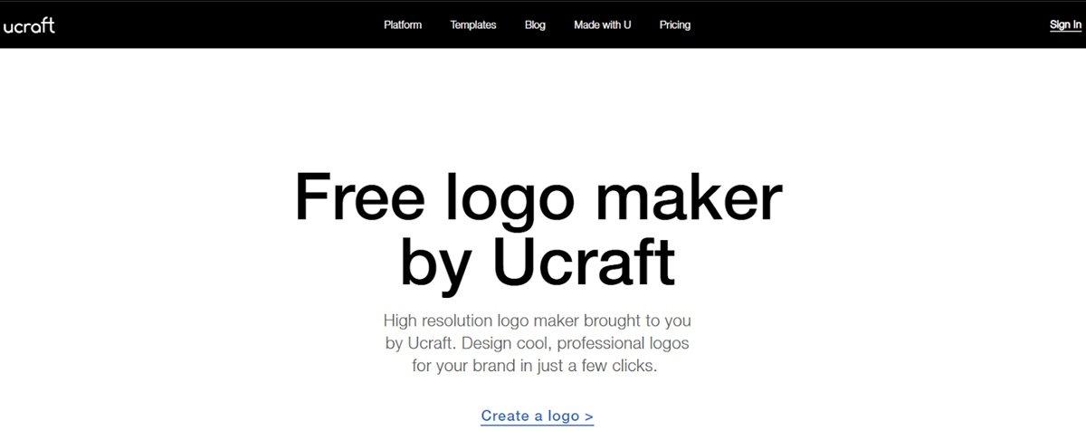 Ucraft's official webpage