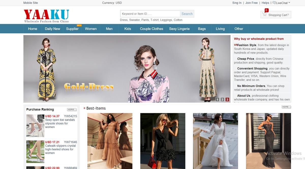 Yaaku China Wholesale Websites