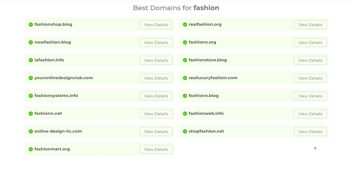 """The results for the keyword """"fashion"""""""