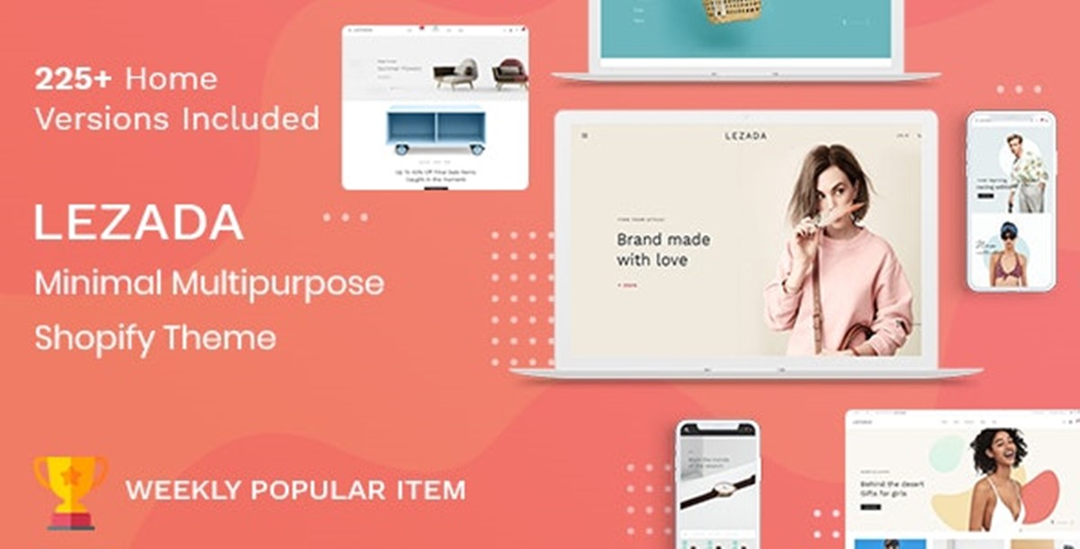 Best Shopify Bootstrap themes Compatible with Bootstrap 4.x: Lezada theme
