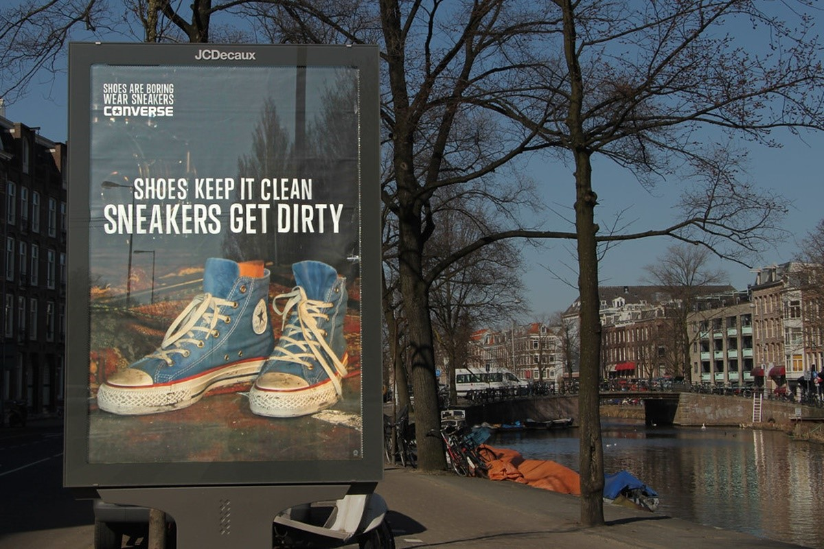 Converse outdoor marketing banner
