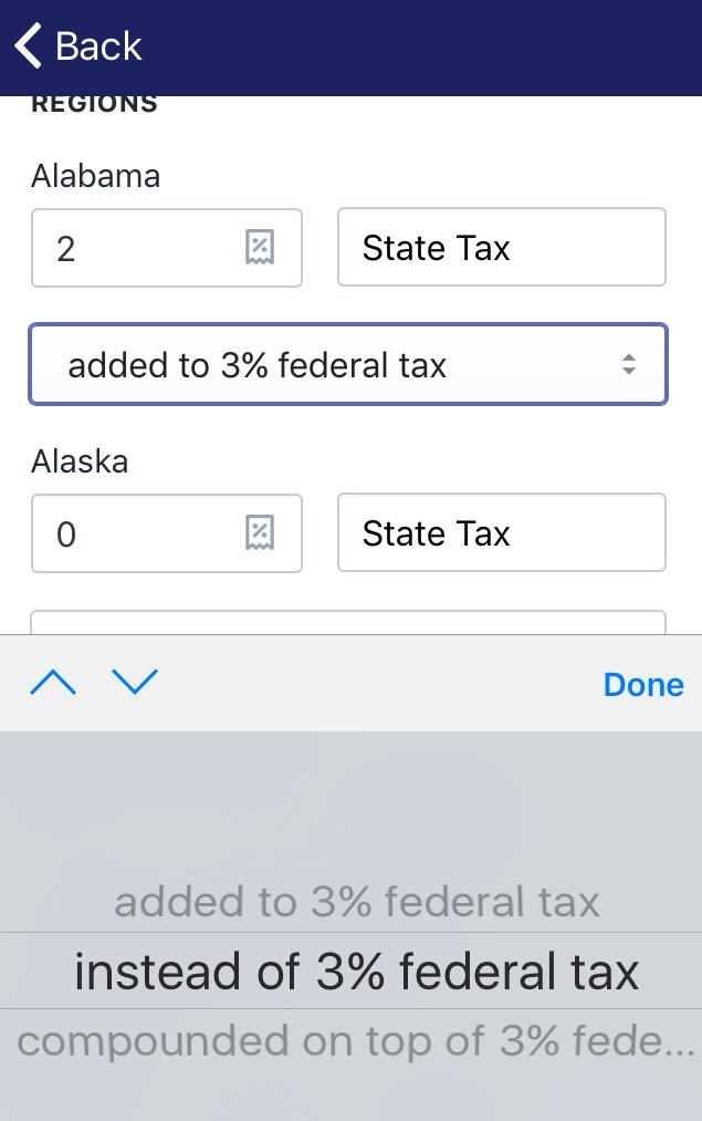 Make sure that taxes aren't duplicated