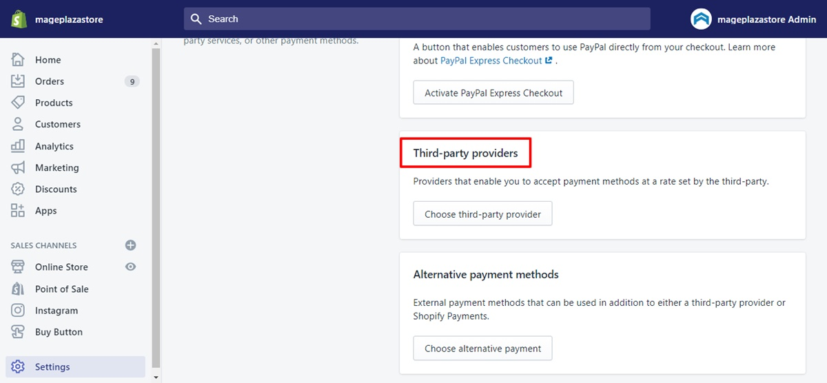 third party payment gateways