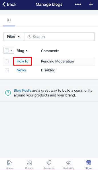 how to edit a blog name