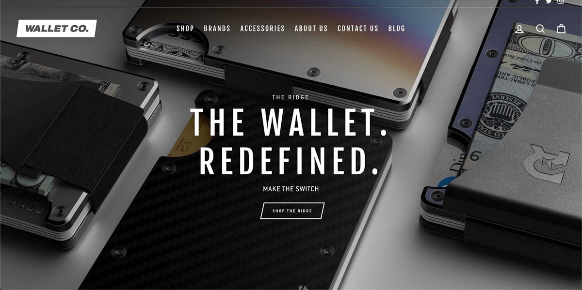 Shopify Store Examples: Wallet and Co - Innovative wallet store