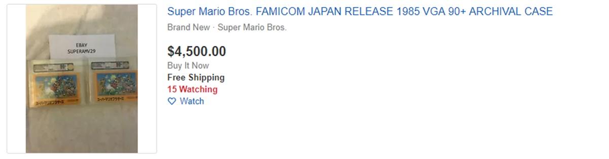 A $4,500 Super Mario game on eBay