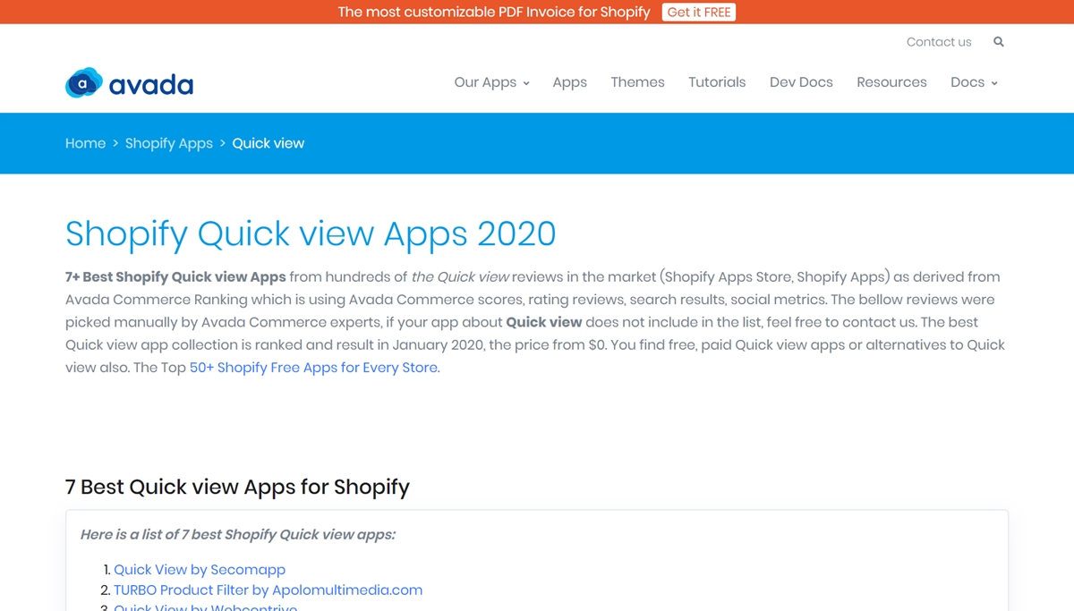 How To Add A Quickview To Shopify Store