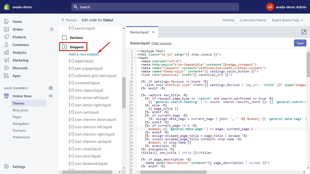 How to edit HTML in Shopify