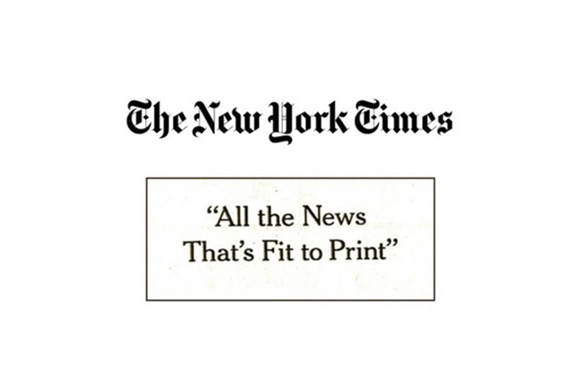 The New York Times: All the News That's Fit to Print
