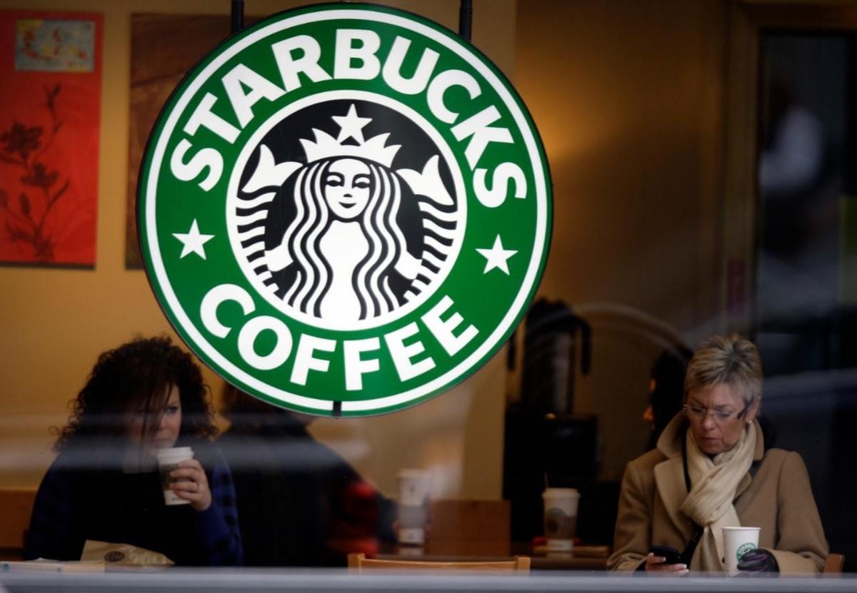 Starbucks customers enjoying their coffee