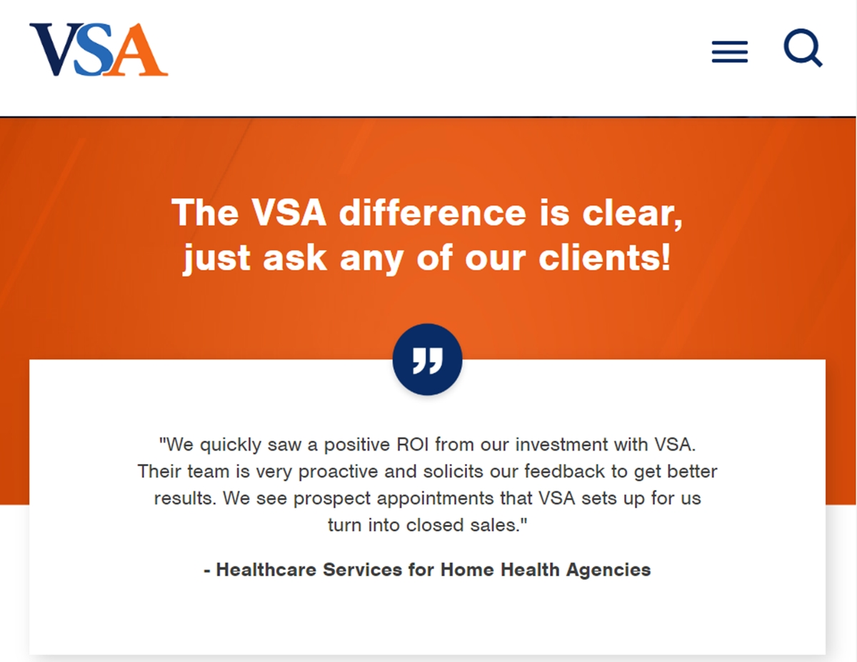 VSA's official webpage