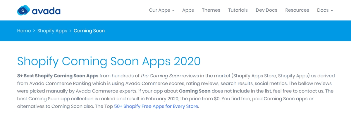 Best Shopify Coming Soon apps