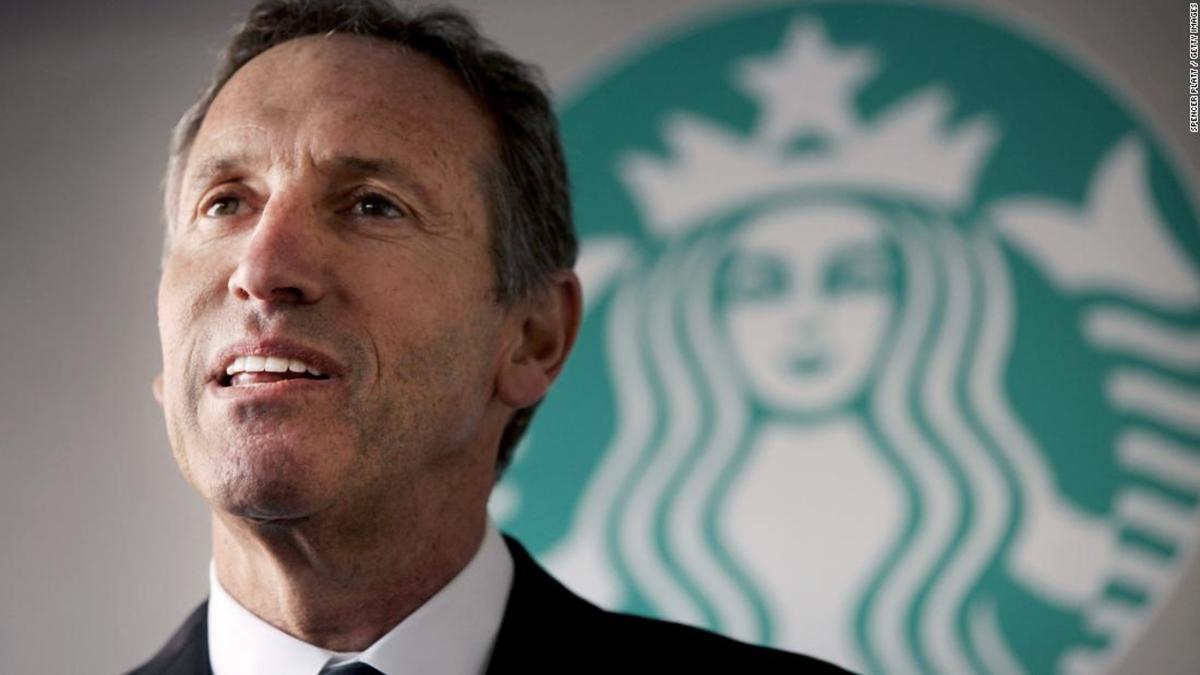 Starbucks CEO, Howard Schultz