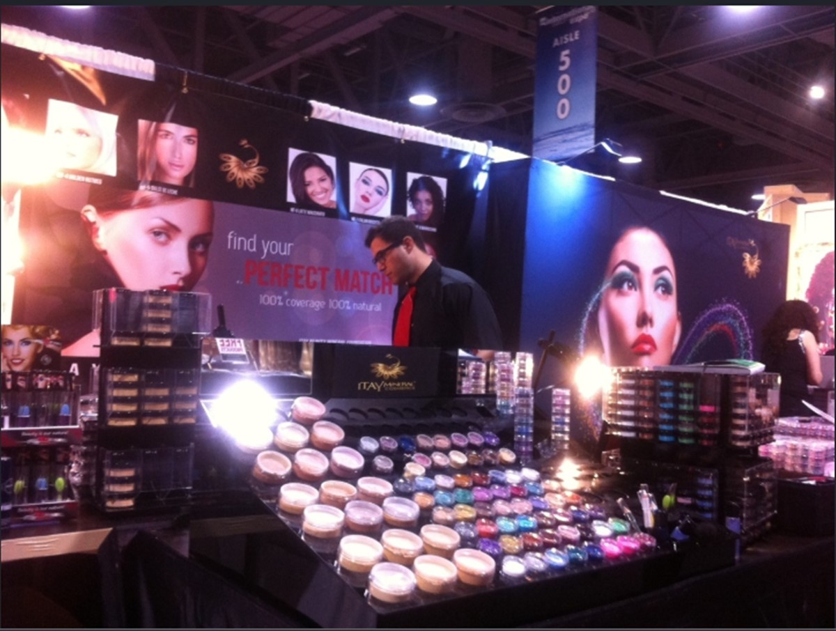 Sell skincare products through trade shows