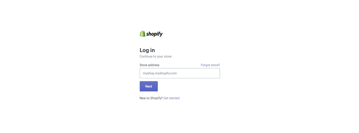Login your Shopify account