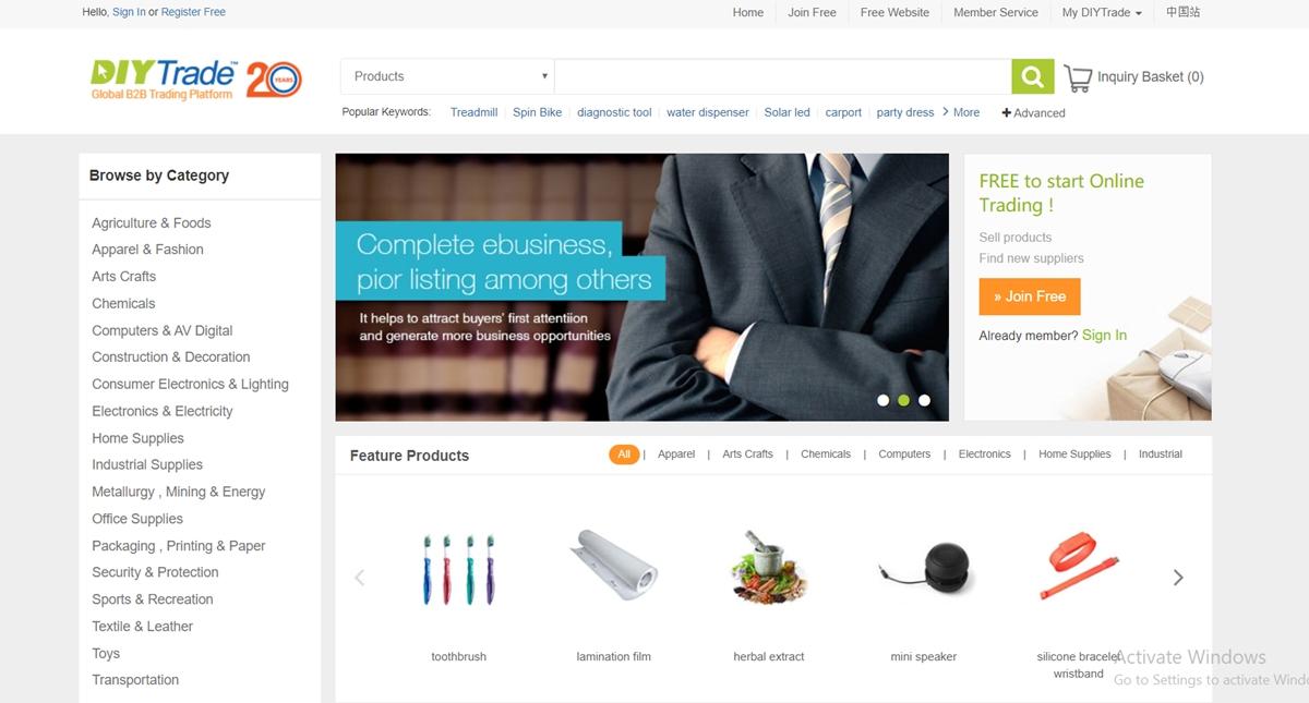 DIYTrade China Wholesale Websites