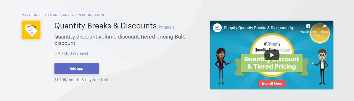 Quantity Breaks and Discounts by SpurIT