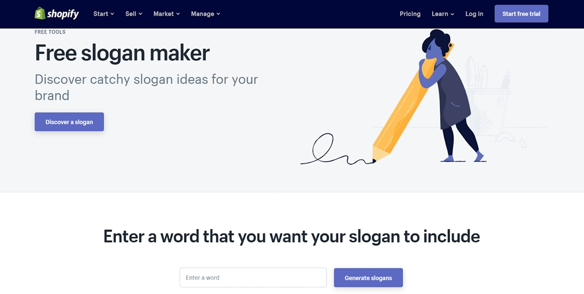 Shopify's Slogan Maker