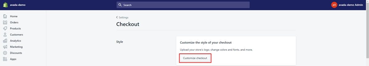 Edit Checkout Page In Shopify