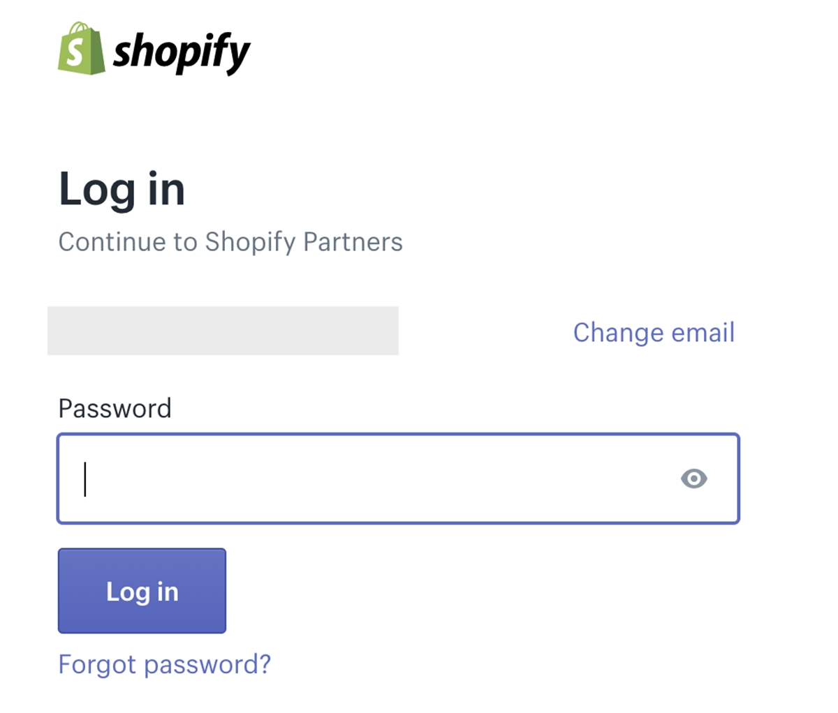 Shopify Partner login: Forgot partner password