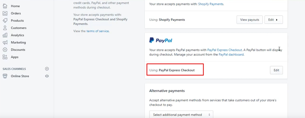 Setup Paypal