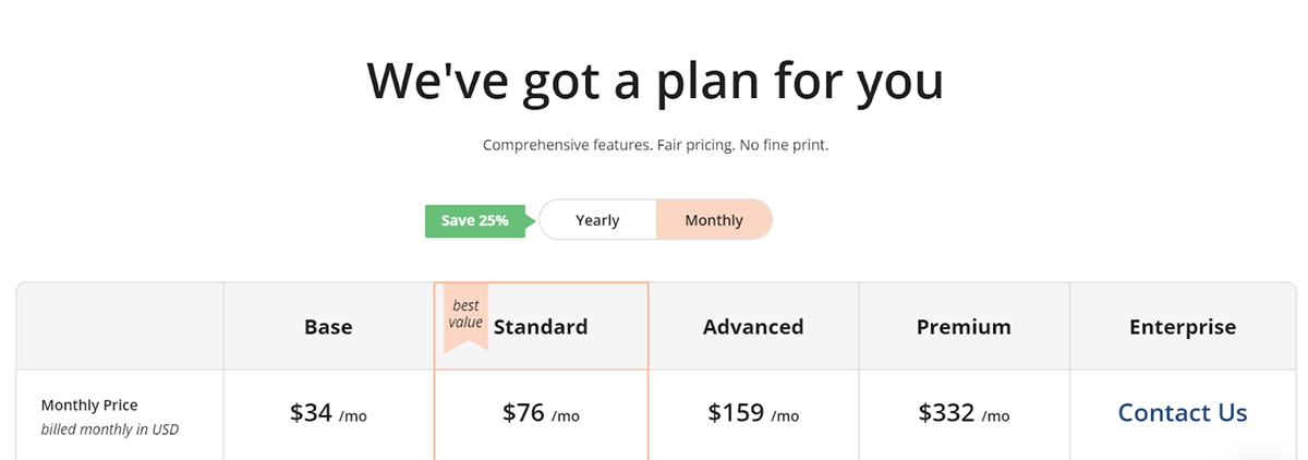 Loomly's pricing plans