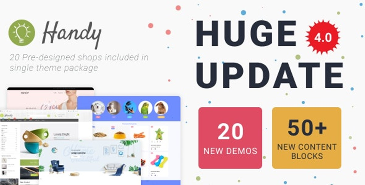 Best Shopify Bootstrap themes Compatible with Bootstrap 4.x: Handy theme