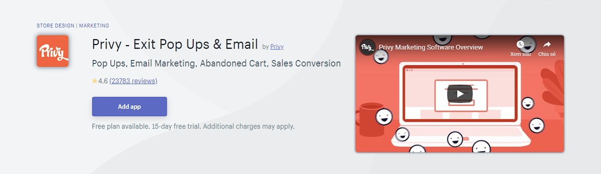 Best Shopify apps: Privy - Exit Pop Ups and Email