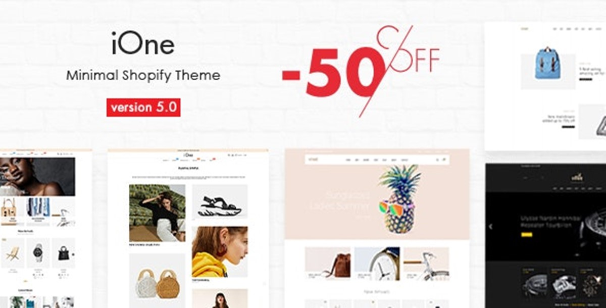 Best Shopify Bootstrap themes Compatible with Bootstrap 4.x: iOne theme