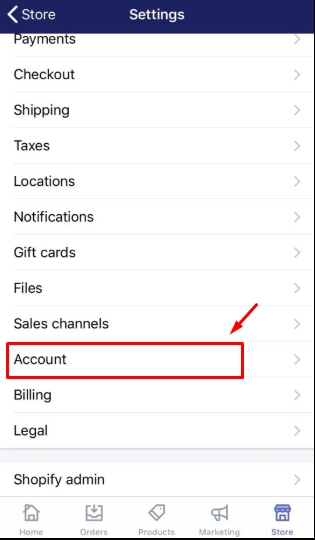 To disable two-step authentication for a staff account on Iphone 2