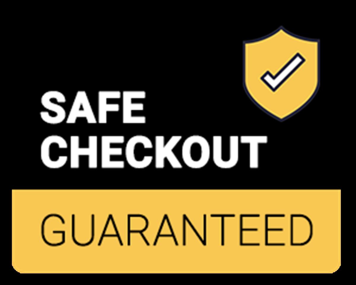 Safe checkout guaranteed badge