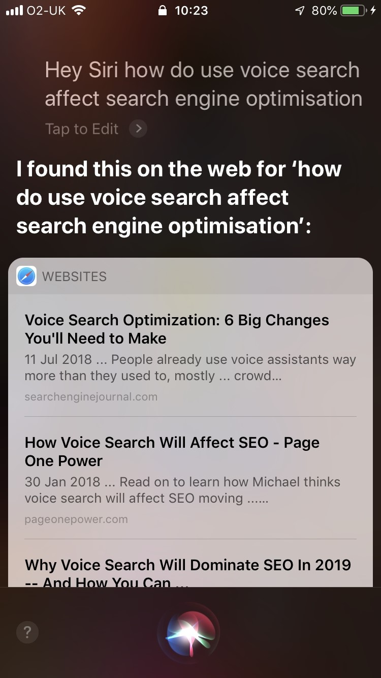 Voice search advertising
