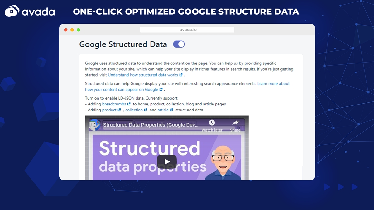Add Google structured data