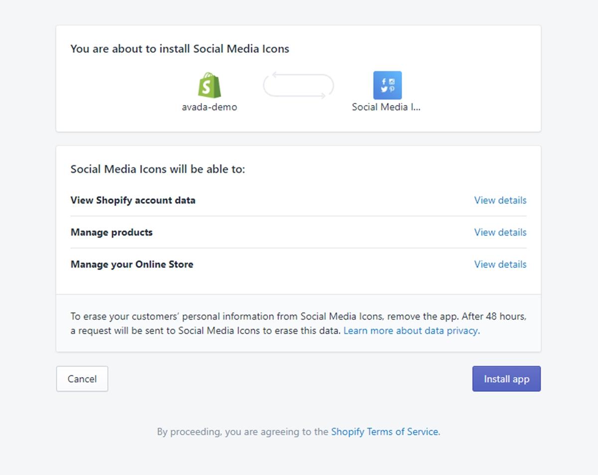 Install Social Media Icons