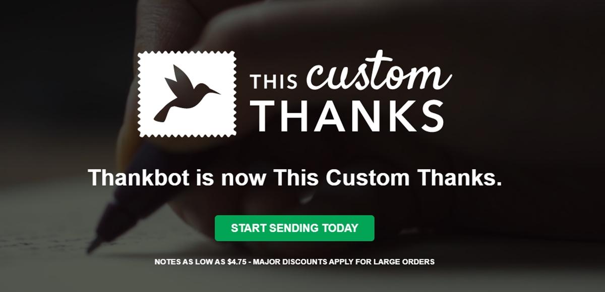 This Custom Thanks