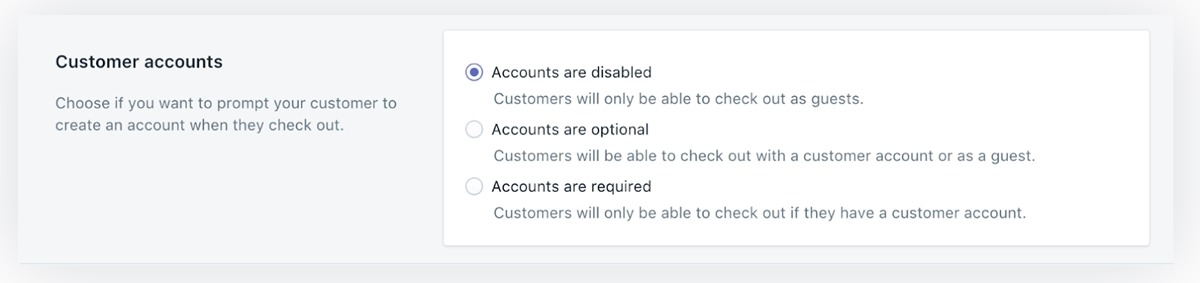 Shopify Customers Login: Edit your customer account settings
