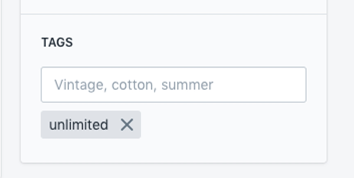 Edit tags in Shopify