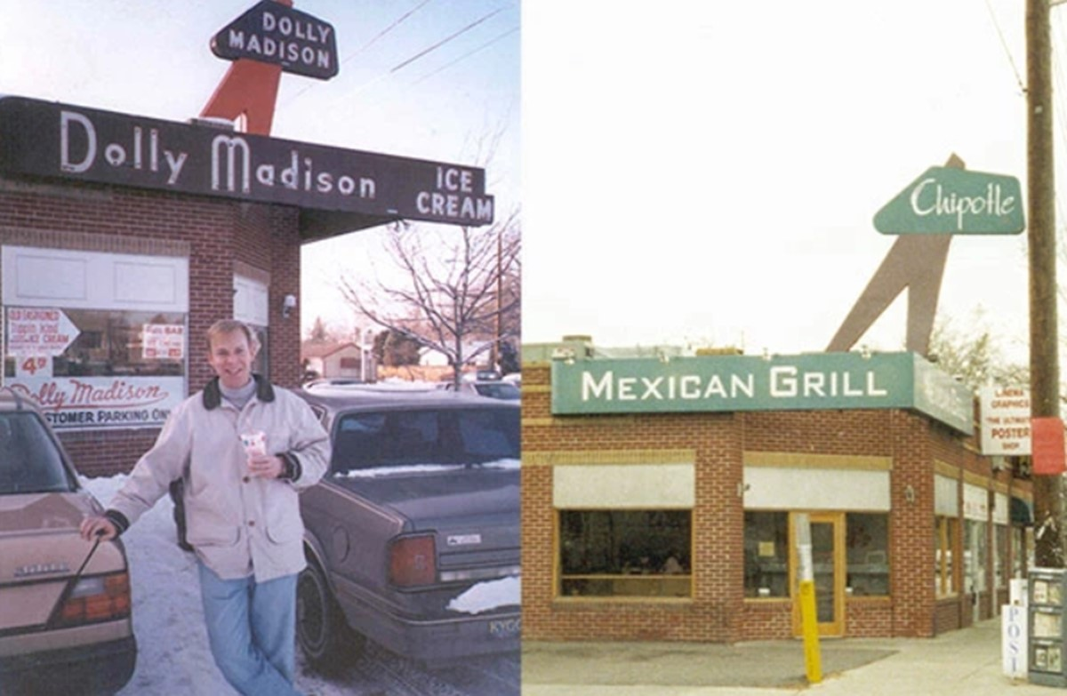 CEO Steve Ells and the first Chipotle store