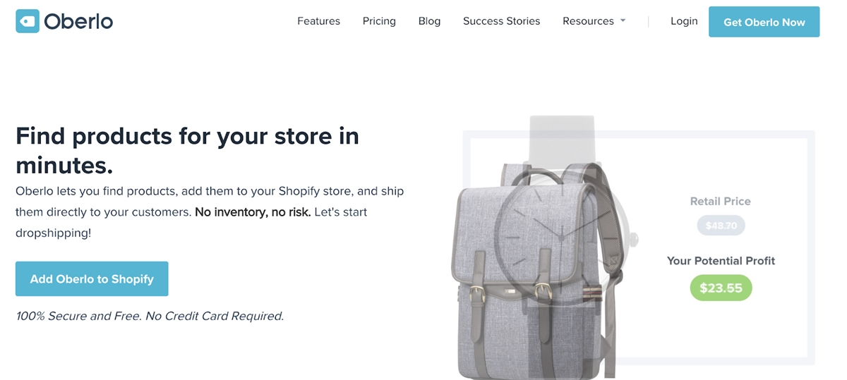 Best Shopify dropshipping apps - Oberlo