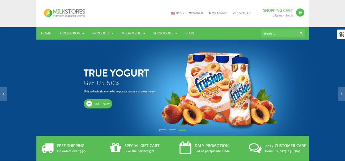 Shopify Milk Store Themes