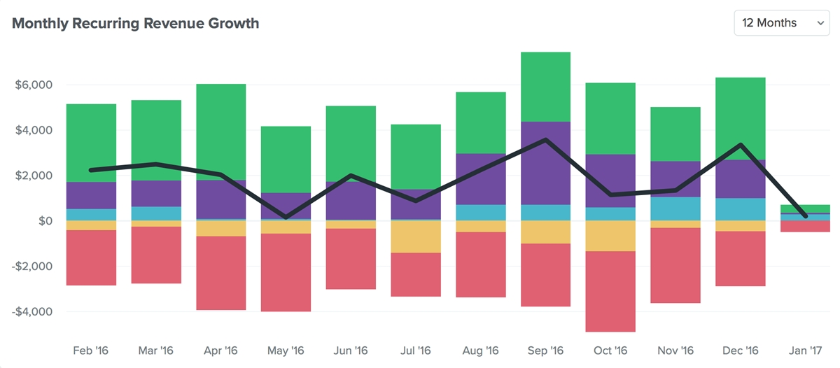 A Monthly Recurring Revenue Example