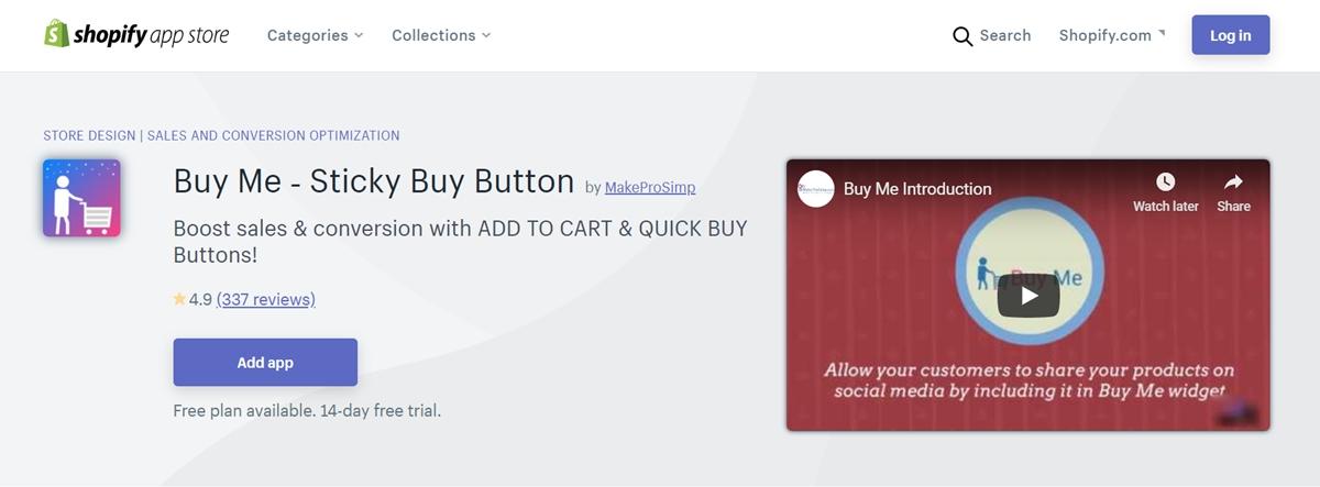 Buy Me ‑ Sticky Buy Button by Makeprosimp