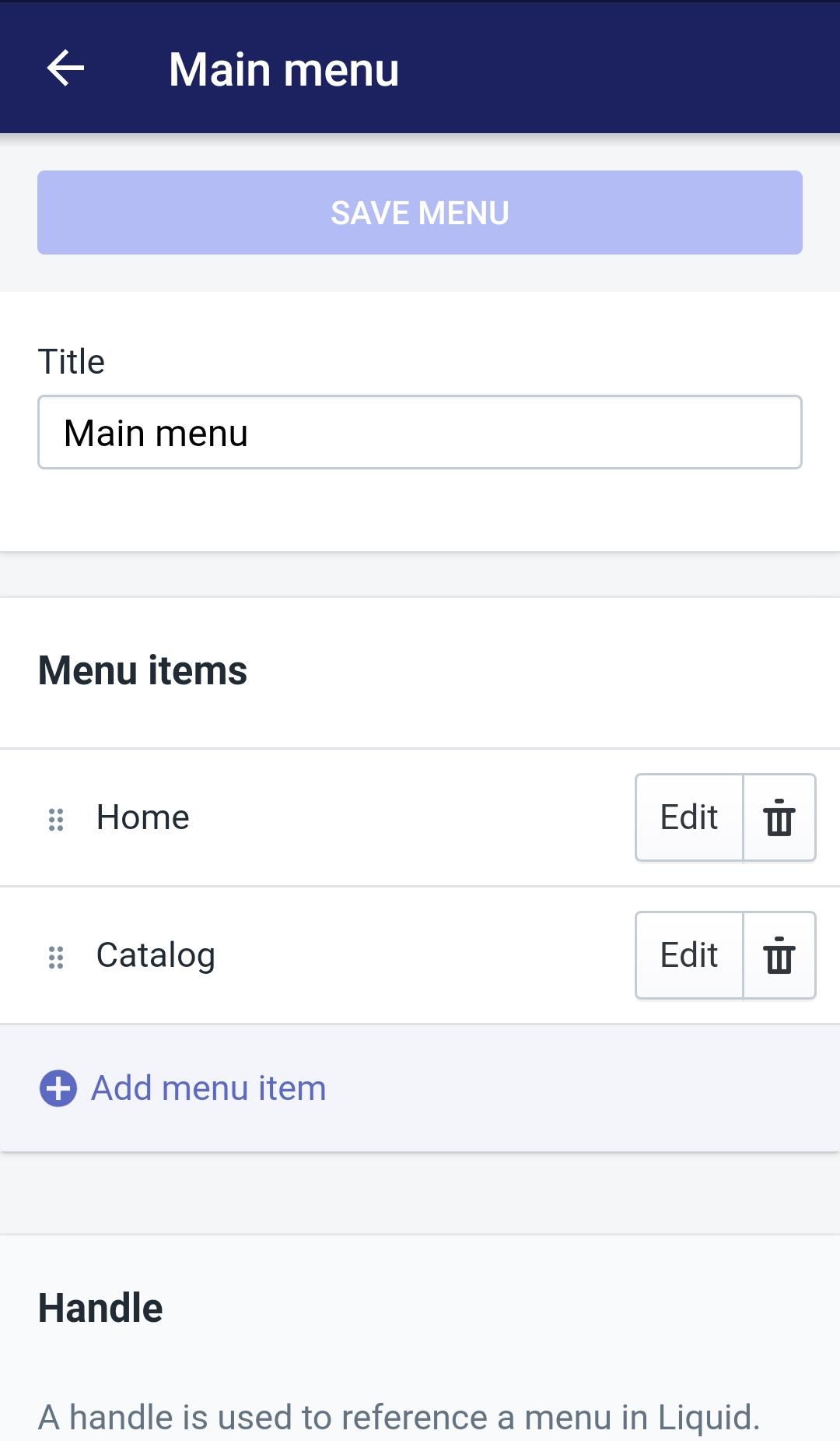 Edit menu item9